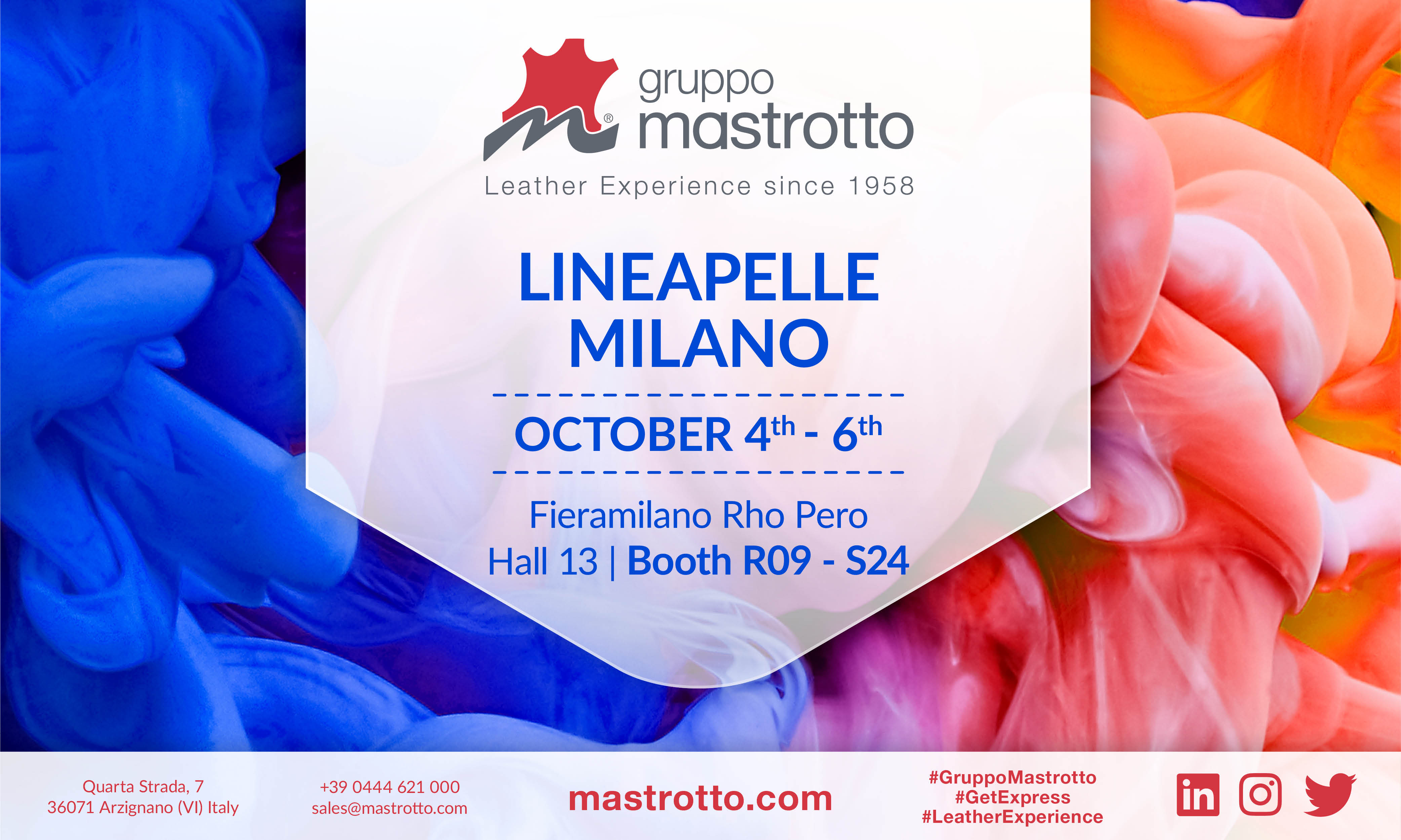 Lineapelle Milano 4-6 October 2017